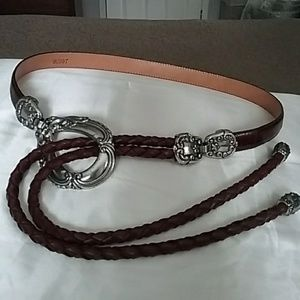 Belt Leather & Silver Tone